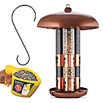 Perky-Pet® Copper Finish Triple Tube Bird Feeder with Free Gifts