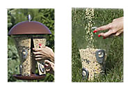 Filling tube bird feeders