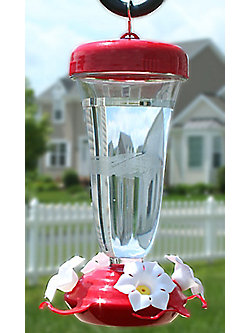 Perky-Pet® Etched Top-Fill Plastic Hummingbird Feeder