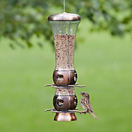 Perky-Pet® Select-A-Bird Tube Feeder with Copper Finish