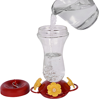 Top fill 16 oz hummingbird feeder