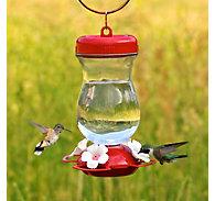 "Perky-Pet® ""Perky's Finest"" 24 oz Top Fill Glass Hummingbird Feeder"