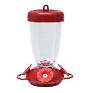 "Perky-Pet® ""Perky's Finest"" Red Flower Top Fill Plastic Hummingbird Feeder"