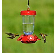 "Perky-Pet® ""Perky's Finest"" Red Flower Top Fill Plastic Hummingbird Feeder"