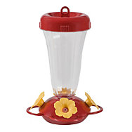 "Perky-Pet® ""Perky's Finest"" Yellow Flower Top Fill Plastic Hummingbird Feeder"