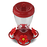 Perky-Pet® 16 oz Red Hibiscus Top Fill Plastic Hummingbird Feeder