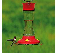 Perky-Pet® Pinch Waist Glass Hummingbird Feeder with Free Nectar
