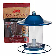 Lyric® Fruit & Nut Bird Seed and Perky Pet® Blue Sparkle Bird Feeder Bundle