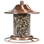 Perky-Pet® copper finish panorama bird feeder
