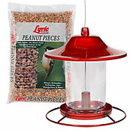 Lyric® Peanut Pieces & Perky-Pet® Red Sparkle Panorama Feeder Bundle