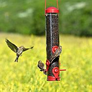 Perky-Pet® Red 2-in-1 Tube Bird Feeder