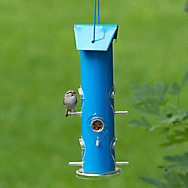 Perky-Pet® Blue Metal Tube Bird Feeder