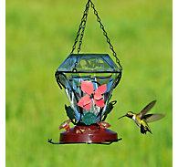 Birdscapes® Blossom Edition Glass Hummingbird Feeder