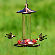 Perky-Pet® Elegant Copper Glass Hummingbird Feeder with Free Nectar