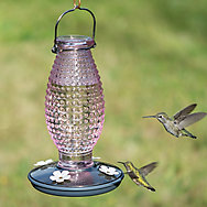 Perky-Pet® Cranberry Hobnail Vintage Hummingbird Feeder