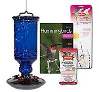 Perky-Pet® Cobalt Blue Antique Glass Hummingbird Feeder Kit