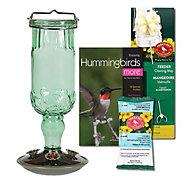 Perky-Pet® Green Antique Glass Hummingbird Feeder Kit