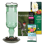 Perky-Pet® Green Antique Glass Hummingbird Feeder Kit