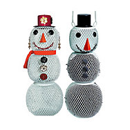 NO/NO® Snow Man and Snow Woman Wild Bird Feeder Set