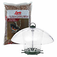 Lyric® Golden Safflower Bird Seed & K-Feeders® Carousel Wild Bird Feeder Bundle
