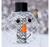 Perky-Pet® Solar Hat Snowman Head Bird Feeder