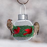 NO/NO® White Solar Seed Ball Bird Feeder solar top
