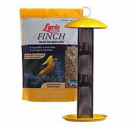 Lyric® Finch Food Mix & NO/NO® Finch Tube Wild Bird Feeder Bundle