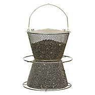 NO/NO® Hourglass® Brass Wild Bird Feeder
