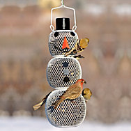 NO/NO® Solar Hat Snow Man Wild Bird Feeder