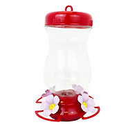 Perky-Pet® Pink Top-Fill Glass Hummingbird Feeder