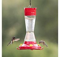 Perky-Pet® Pinch Waist Glass Hummingbird Feeder 16 oz Nectar Capacity