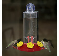 Perky-Pet® Window Mount Plastic Hummingbird Feeder - 8 oz Nectar Capacity