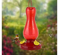 Perky-Pet® Ruby Red Plastic Hummingbird Feeder – 19 oz