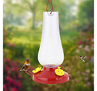 Perky-Pet® Fluted Oil Lamp Plastic Hummingbird Feeder – 20 oz