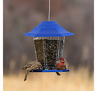 Perky-Pet® Blue Carriage Bird Feeder - 1.5 lb Seed Capacity
