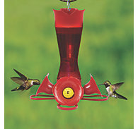 Perky-Pet® Pinch-Waist Red Plastic Hummingbird Feeder – 8 oz