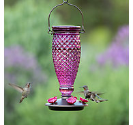 Perky-Pet® Diamond Wine Top-Fill Glass Hummingbird Feeder - 24 oz Nectar Capacity