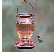 Perky-Pet® Prohibition Top-Fill Glass Hummingbird Feeder - 36 oz Nectar Capacity