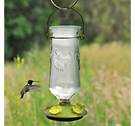 Perky-Pet® Desert Bloom Top-Fill Glass Hummingbird Feeder - 32 oz Nectar Capacity