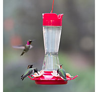 Perky-Pet® Top-Fill Pinch-Waist Glass Hummingbird Feeder - 12 oz