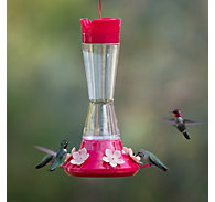 Perky-Pet® Top-Fill Favored Pinch-Waist Glass Hummingbird Feeder - 20 oz