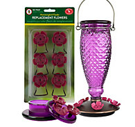 Perky-Pet® Diamond Wine Top-Fill & Handheld Hummingbird Feeder Kit