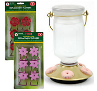 Perky-Pet® Sun-Kissed Top-Fill Glass Hummingbird Feeder Kit