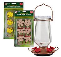 Perky-Pet® Crystal Top-Fill Glass Hummingbird Feeder Kit