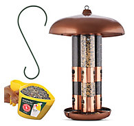 Perky-Pet® Copper Finish Triple Tube Bird Feeder with 2 FREE Gifts