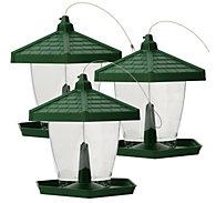 Perky-Pet® Grand Chalet Wild Bird Feeder 3-Pack - 4 lb Seed Capacity