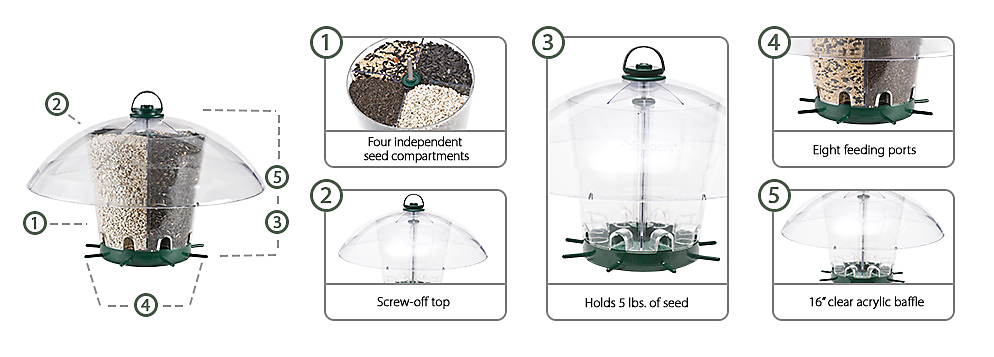 k-350 k-feeders carousel bird feeder