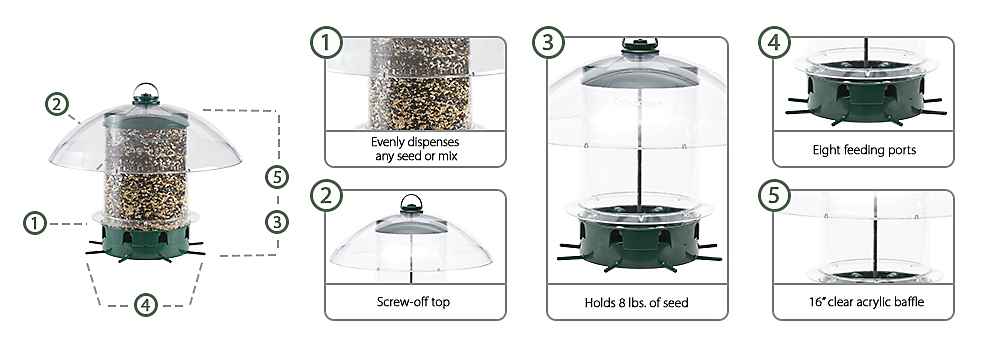 K-351 k-feeders super carousel bird feeder