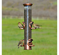 "Perky-Pet® Premium 15"" Heavy-Duty Bird Feeder with Antique Copper Finish"