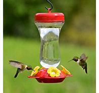 "Perky-Pet® ""Perky's Finest"" 16 oz Top Fill Glass Hummingbird Feeder"